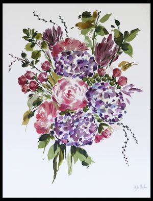 Original Floral Design Paintings; Goodbye Autumn