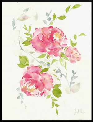 Original Floral Design Paintings; The Family