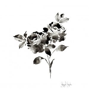 Black and White Floral Design Printable 3