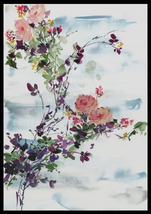 Original Floral Design Paintings; Pretty Imperfect