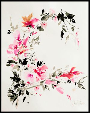 Original Floral Design Paintings; Zen