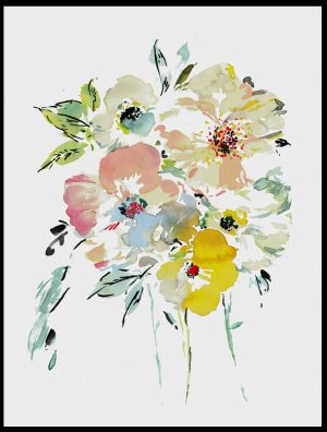Original Floral Design Paintings; Floral Bunch 1