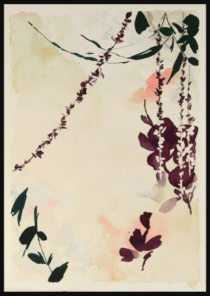 Original Floral Design Paintings; Forest