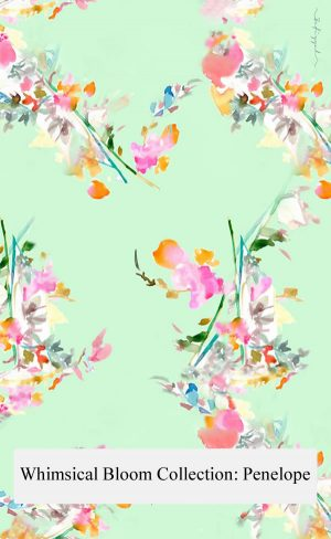 Floral Designs; Scarf - Penelope [Whimsical Bloom Collection]