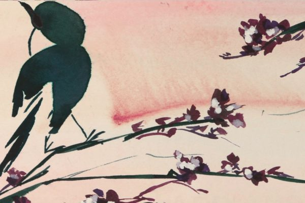 Floral Mural; Birds in the Sunset (slide 2)