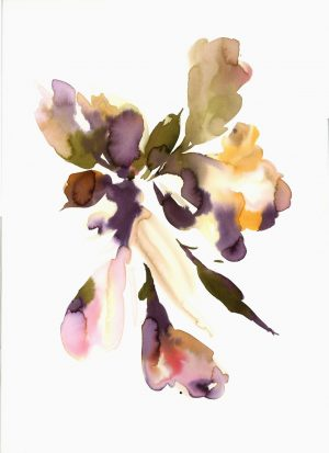 Original Floral Painting; Abstract Iris